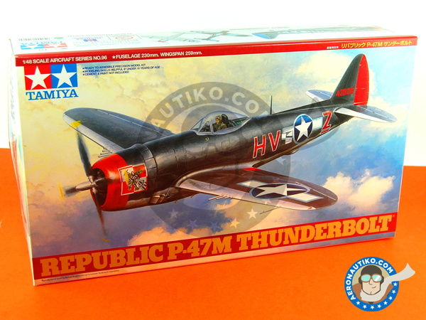 Image 1: Republic P-47 Thunderbolt M | Airplane kit in 1/48 scale manufactured by Tamiya (ref. TAM61096)