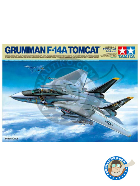 Grumman F-14 Tomcat A | Airplane kit in 1/48 scale manufactured by Tamiya (ref. TAM61114) image