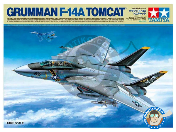 Image 1: Grumman F-14 Tomcat A | Airplane kit in 1/48 scale manufactured by Tamiya (ref. TAM61114)