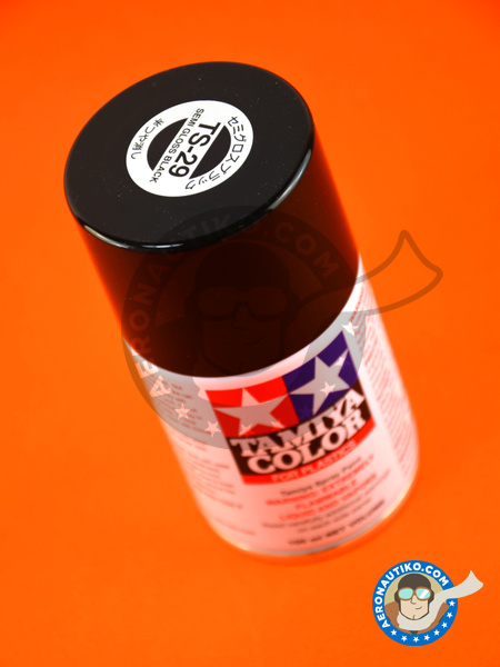 Semi Gloss Black TS-29 | Spray manufactured by Tamiya (ref.TAM85029) image