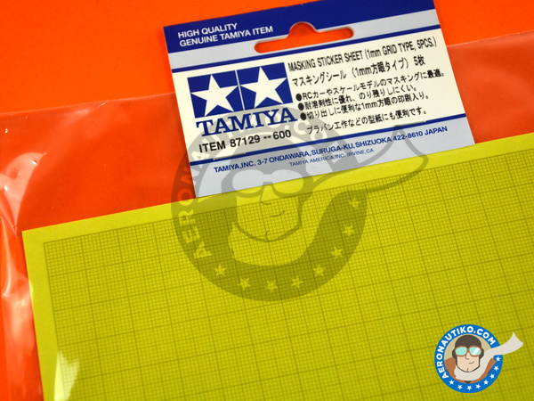 Image 5: Masking sticker sheet   Masks manufactured by Tamiya (ref.TAM87129)