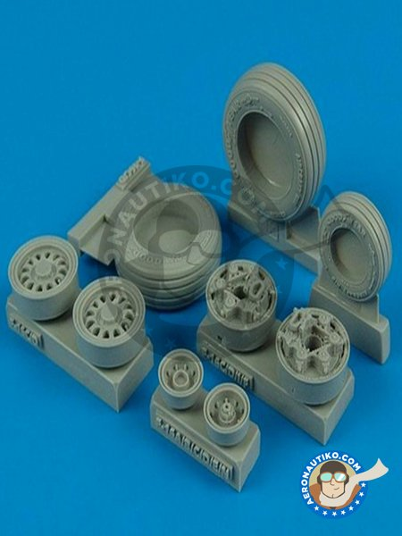 Good Year Wheels for F-16 Fighting Falcon | Wheels in 1/32 scale manufactured by Wheelliant (ref. 132.002) image