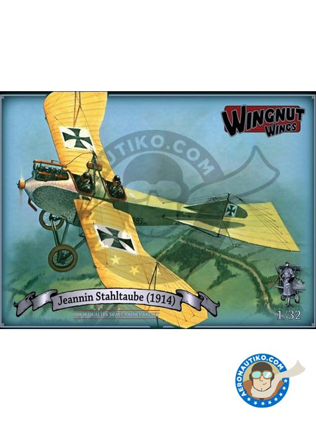 Jeannin Stahltaube (1914) | Airplane kit in 1/32 scale manufactured by Wingnut Wings (ref.32058) image