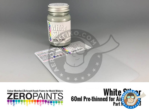 Image 1: White silver | Paint manufactured by Zero Paints (ref. ZP-1453)