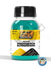 AK Interactive: Thinner - Photoetched burnishing. - 100 mL jar.