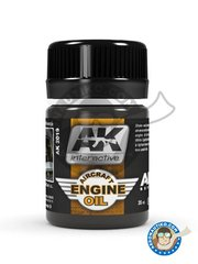 AK Interactive: AK Weathering efect product - Aircraft Engine Oil | Air Series - for all kits