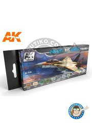 AK Interactive: Air Series Set - Israeli Air Force Colors set | New May 2018 - Israeli Air Force - Dark Tan, Sand, Green, Green, Light Blue, Dark Ghost Grey, Light Ghost Grey, Sky - for all kits