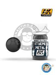 AK Interactive: Xtreme metal paint - Gun metal - 30mL Jar
