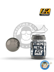 AK Interactive: Xtreme metal paint - Titanium - 30mL Jar - for all kits