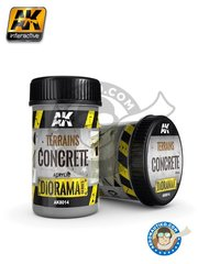 AK Interactive: Textures and Dioramas - Diorama Series: concrete terrains - 250ml Jar - for all kits