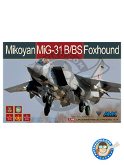 AMK AvantGarde Model Kits: Airplane kit 1/48 scale - Mikoyan MiG-31 B / BS - plastic model kit