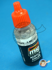AMMO of Mig Jimenez: Acrylic paint - Satin Black - 17ml - for all kits