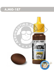 AMMO of Mig Jimenez: Acrylic paint - Burnt metal | Jet Exhaust Burnt Iron - 17ml Jar - for all kits