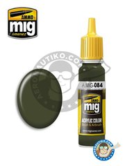AMMO of Mig Jimenez: Acrylic paint - NATO Green | New 2018 - 17ml Jar