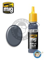 AMMO of Mig Jimenez: Acrylic paint - FS 35164 INTERMEDIATE BLUE (ANA 608) | New 2018 - 17ml Jar - for all kits