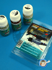 AMMO of Mig Jimenez: Paints set - WWII Japanese Airplanes - Air Weathering Set - Imperial Japanese Army Air Force (JP0) - RAF - A.MIG-1605, A.MIG-1606, A.MIG-1607 - for all kits