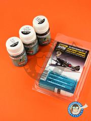 AMMO of Mig Jimenez: Paints set - WWII Soviet Airplanes - Green & Black Camouflages - Russian Air Force (RU3); Russian Air Force (RU2) - A.MIG-1612, A.MIG-1615, A.MIG-1619 - for all kits