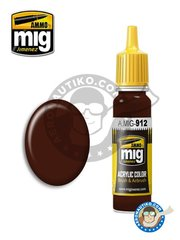 AMMO of Mig Jimenez: Acrylic paint - Red Brown Shadow | New 2018 - 17ml Jar - for all kits