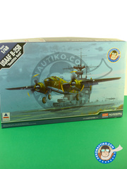 Academy: Airplane kit 1/48 scale - North American B-25 Mitchell B - USAF (US4) - Doolite Raid during World War II - plastic parts, water slide decals and assembly instructions image