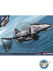 Academy: Airplane kit 1/48 scale - McDonnell F-4 Phantom II J - USAF - plastic parts, water slide decals and assembly instructions