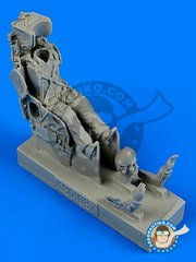 Aerobonus: Figure 1/48 scale - Russian pilot with KS-4 ejection seat for Su-7/9/11/15/17 - resin parts and assembly instructions - for all kits