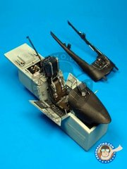 Aires: Cockpit set 1/32 scale - F/A-18C Hornet cockpit set - USAF - photo-etched parts and resin parts - for Academy's kit
