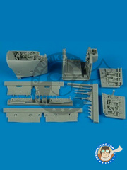 Aires: Wheel bay 1/32 scale - McDonnell Douglas AV-8B Harrier | Wheel bay II - different locations - resin parts and assembly instructions - for Trumpeter kit 02287 image