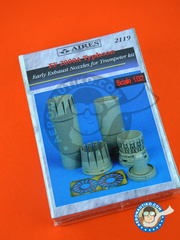Aires: Exhaust nozzle 1/32 scale - Eurofighter Typhoon EF-2000 A - photo-etched parts and resin parts - for Trumpeter kit