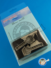 Aires: Wheel bay 1/32 scale - Mitsubishi A6M Zero  5 - resin parts - for Tamiya kit