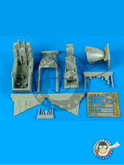 Aires: Cockpit set 1/32 scale - McDonnell Douglas AV-8B II II Plus - photo-etched parts and resin parts - for Trumpeter kit