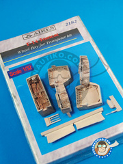 Aires: Wheel bay 1/32 scale - Grumman F-14 Tomcat - resin parts - for Trumpeter kit