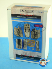 Aires: Detail up set 1/32 scale - Ling-Temco-Vought A-7 Corsair II E - resins, photo-etched parts - for Trumpeter reference 02231 image