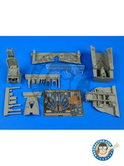 Aires: Cockpit set 1/32 scale - Lockheed F-104 Starfighter G / S - resins, photo-etched parts - for Italeri reference ITA2502 image