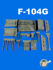 Aires: Wheel bay 1/32 scale - Lockheed F-104 Starfighter - Wheel bay G - resin parts - for Italeri kit
