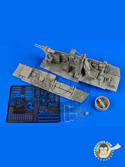 Aires: Cockpit set 1/32 scale - Junkers Ju-87 Stuka D / G - resins, photo-etched parts - for Trumpeter references 03217 and 03218