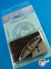 Aires: Wheel bay 1/48 scale - North American P-51 Mustang  D - resins - for Tamiya kit
