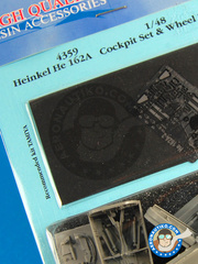 Aires: Cockpit set 1/48 scale - Heinkel He 162 Salamander A - photo-etch and resin parts - for Tamiya reference TAM61097 image