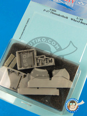 Aires: Wheel bay 1/48 scale - Republic P-47 Thunderbolt  D - resins - for Tamiya reference TAM61086