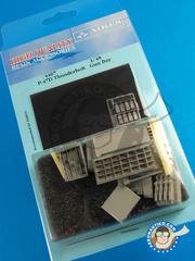 Aires: Gun bay 1/48 scale - Republic P-47 Thunderbolt D - photo-etched parts and resin parts - for Tamiya kit