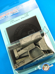 Aires: Wheel bay 1/48 scale - Grumman F-14 Tomcat - resins and photo-etched parts - for Tamiya kit