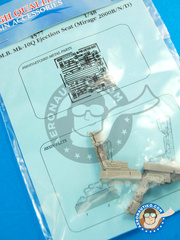 Aires: Ejection seat 1/48 scale - Dassault Mirage 2000 B / N / D - photo-etched parts and resin parts - for all kits