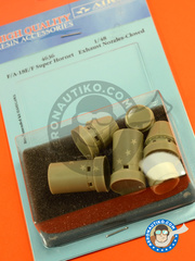 Aires: Exhaust nozzle 1/48 scale - McDonnell Douglas F/A-18 Hornet E/F Super Hornet - resins - for Hasegawa kit image