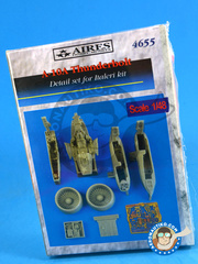 Aires: Detail up set 1/48 scale - Fairchild-Republic A-10 Thunderbolt II A - photo-etched parts and resin parts - for Italeri kits image