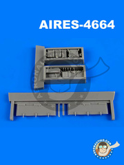 Aires: Electronic bay 1/48 scale - Panavia Tornado IDS - resin parts - for Revell kits