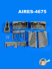 Aires: Wheel bay 1/48 scale - Panavia Tornado IDS - resin parts - for Revell reference REV03987 image