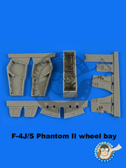 Aires: Wheel bay 1/48 scale - McDonnell Douglas F-4 Phantom II J / S - resins - for Academy reference 12315, or Eduard reference 1143