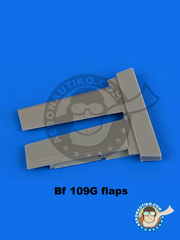 Aires: Flaps 1/48 scale - Messerschmitt Bf 109 G - resin parts - for Eduard kits