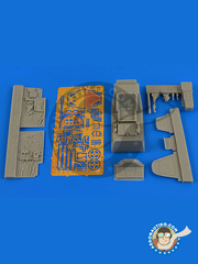 Aires: Cockpit set 1/48 scale - Messerschmitt Bf 109 G-5 early - photo-etched parts and resin parts - for Eduard kit 82112
