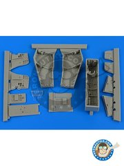 Aires: Wheel bay 1/48 scale - F-4C/D Phantom II wheel bay with covers - resin parts - for Academy kits