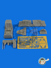 Aires: Cockpit set 1/48 scale - Messerschmitt Bf 109 G-5 late - photo-etched parts and resin parts - for Eduard kit 82112